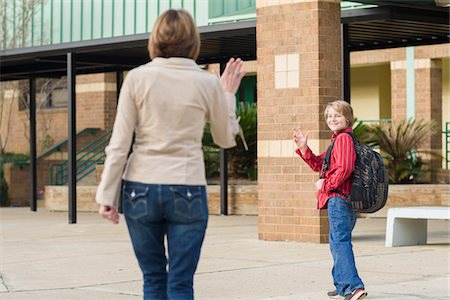 Mother Taking Son to School Stock Photo - Rights-Managed, Code: 700-06282098