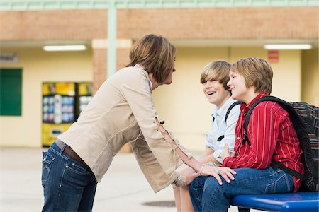 Mother Talking to Two Sons Stock Photo - Rights-Managed, Code: 700-06282099