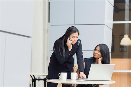 Businesswomen at Cafe Stock Photo - Rights-Managed, Code: 700-06282105