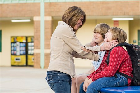 Mother with her Sons at School Stock Photo - Rights-Managed, Code: 700-06282100