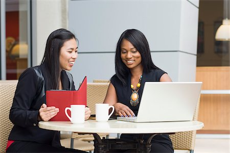 Businesswomen at Cafe Stock Photo - Rights-Managed, Code: 700-06282101