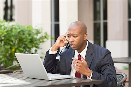 person overwhelmed stresss - Businessman with Laptop and Cell Phone Stock Photo - Rights-Managed, Code: 700-06282142