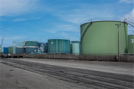 Industrial Fuel Storage Tanks, Le Havre, France Stock Photo - Rights-Managed, Code: 700-06334376
