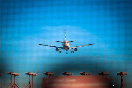 Plane Landing at Heathrow Airport, London, UK Stock Photo - Rights-Managed, Code: 700-06334447