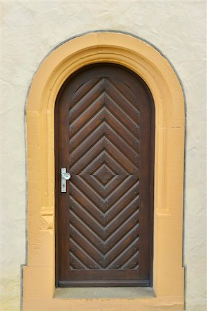 Close-Up of Monastery Door, Maria Bildhausen, Munnerstadt, Bavaria, Germany Stock Photo - Rights-Managed, Code: 700-06334469