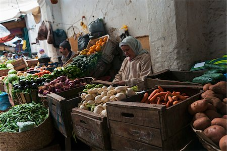 Vegetable Vendors at Street Market, Medina, Tetouan, Morocco Stock Photo - Rights-Managed, Code: 700-06334554