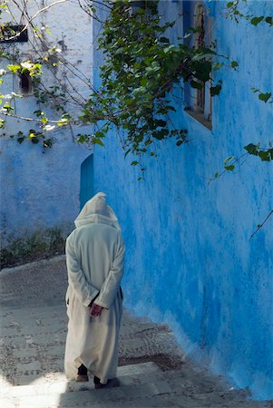Person Walking, Chefchaouen, Chefchaouen Province, Tangier-Tetouan Region, Morocco Stock Photo - Rights-Managed, Code: 700-06334586