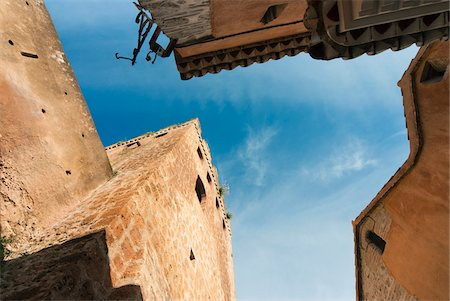 Low Angle View of Buildings, Chefchaouen, Chefchaouen Province, Tangier-Tetouan Region, Morocco Stock Photo - Rights-Managed, Code: 700-06334590