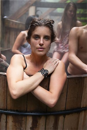 Portrait of Woman in Hot Tub Stock Photo - Rights-Managed, Code: 700-06334624