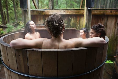Group of People in Outdoor Hot Tub Stock Photo - Rights-Managed, Code: 700-06334623