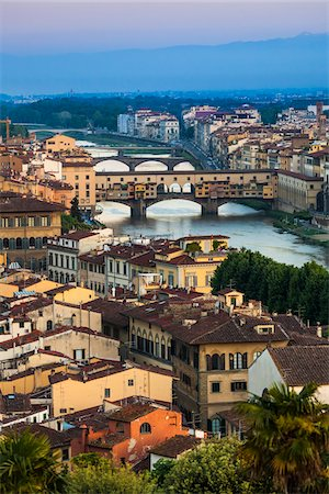 Ponte Vecchio over Arno River, Florence, Tuscany, Italy Stock Photo - Rights-Managed, Code: 700-06334632