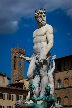 Fountain of Neptune in Piazza della Signoria, Florence, Tuscany, Italy Stock Photo - Rights-Managed, Code: 700-06334677