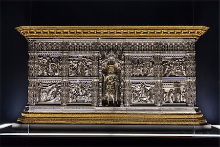 decorative - Silver Altar in Museum of the Duomo, Basilica di Santa Maria del Fiore, Florence, Tuscany, Italy Stock Photo - Rights-Managed, Code: 700-06334688