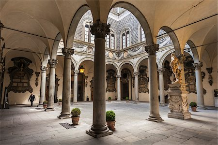 Inner Courtyard of Palazzo Medici Riccardi, Florence, Tuscany, Italy Stock Photo - Rights-Managed, Code: 700-06334704