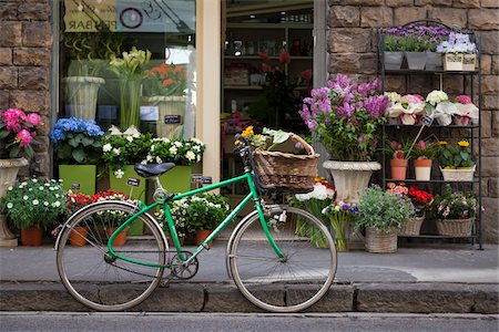 florist - Bicycle Outside Shop, Florence, Tuscany, Italy Stock Photo - Rights-Managed, Code: 700-06334771