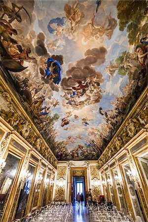 Fresco Ceiling by Luca Giordana, Palazzo Medici Riccardi, Florence, Tuscany, Italy Stock Photo - Rights-Managed, Code: 700-06334788