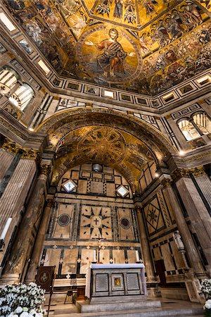 Interior of Baptistery Basilica di Santa Maria del Fiore, Florence, Tuscany, Italy Stock Photo - Rights-Managed, Code: 700-06334792