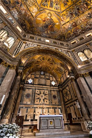 Interior of Baptistery Basilica di Santa Maria del Fiore, Florence, Tuscany, Italy Stock Photo - Rights-Managed, Code: 700-06334792