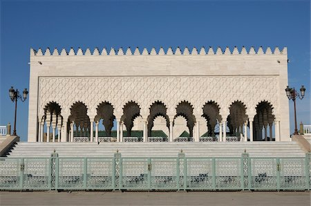 Mausoleum of Mohammed V, Rabat, Morocco Stock Photo - Rights-Managed, Code: 700-06355152