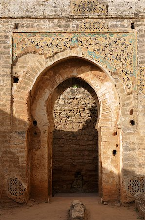 Archway, Chellah, Rabat, Morocco Stock Photo - Rights-Managed, Code: 700-06355165