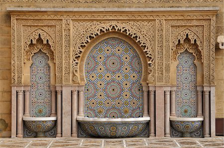 decorative - Mausoleum of Mohammed V, Rabat, Morocco Stock Photo - Rights-Managed, Code: 700-06355167