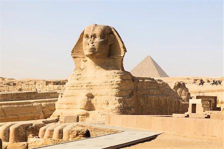 egypt - Great Sphinx and Pyramid of Menkaure, Giza, Egypt Stock Photo - Rights-Managed, Code: 700-06355293