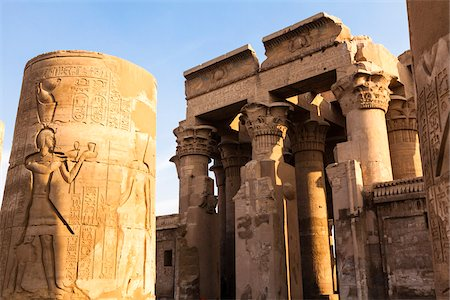 egyptian hieroglyphics - Temple of Kom Ombo, Kom Ombo, Aswan Governorate, Egypt Stock Photo - Rights-Managed, Code: 700-06355309