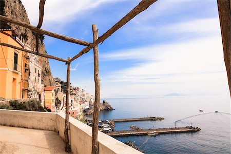 Village of Amalfi, Province of Salerno, Campania, Italy Stock Photo - Rights-Managed, Code: 700-06355343