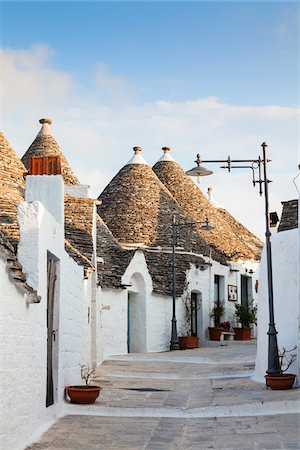 Trulli Houses, Alberobello, Province of Bari, Puglia, Italy Stock Photo - Rights-Managed, Code: 700-06355356