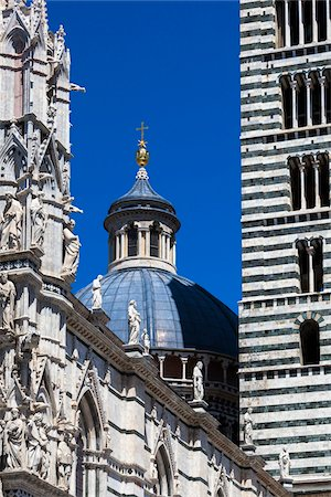 Close-Up of Siena Cathedral, Siena, Tuscany, Italy Stock Photo - Rights-Managed, Code: 700-06367756