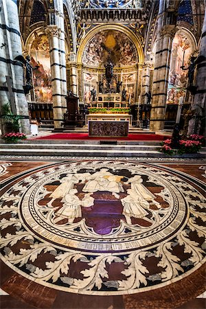 Interior of Siena Cathedral, Siena, Tuscany, Italy Stock Photo - Rights-Managed, Code: 700-06367759