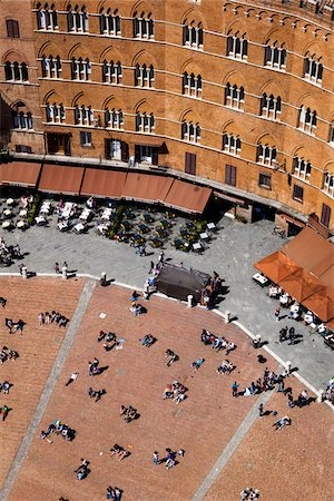 square - Aerial View of Il Campo, Siena, Tuscany, Italy Stock Photo - Rights-Managed, Code: 700-06367751
