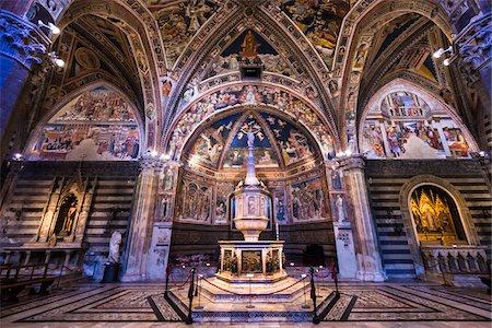 Baptistry of Siena Cathedral, Siena, Tuscany, Italy Stock Photo - Rights-Managed, Code: 700-06367769