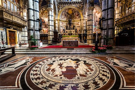 Interior of Siena Cathedral, Siena, Tuscany, Italy Stock Photo - Rights-Managed, Code: 700-06367760