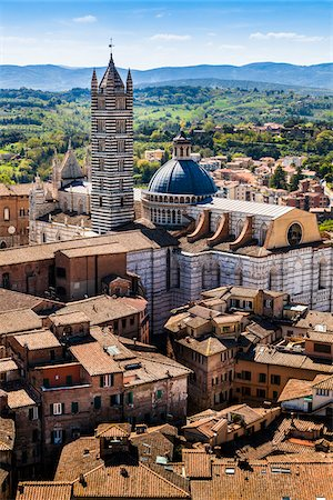 Overview of Siena Cathedral, Siena, Tuscany, Italy Stock Photo - Rights-Managed, Code: 700-06367788