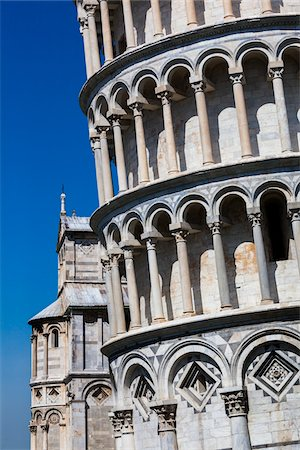 Close-UP of Leaning Tower of Pisa, Tuscany, Italy Stock Photo - Rights-Managed, Code: 700-06367816