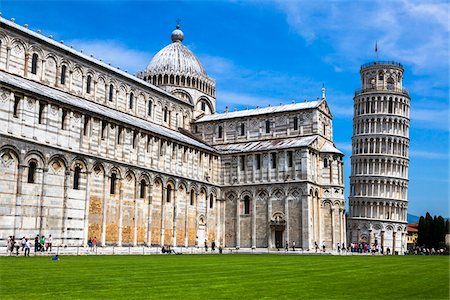 Duomo and Leaning Tower of Pisa, Tuscany, Italy Stock Photo - Rights-Managed, Code: 700-06367812