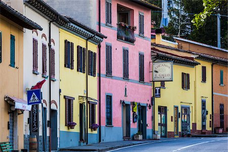 Colourful Houses, Chiocchio, Chianti, Tuscany, Italy Stock Photo - Rights-Managed, Code: 700-06367836