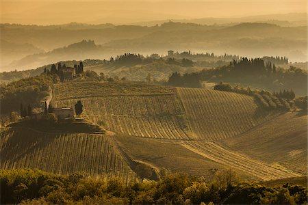 Farmland, San Gimignano, Siena Province, Tuscany, Italy Stock Photo - Rights-Managed, Code: 700-06367917