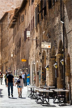 People Walking in San Gimignano, Siena Province, Tuscany, Italy Stock Photo - Rights-Managed, Code: 700-06367920
