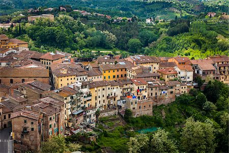 european hillside town - Overview of San Miniato, Province of Pisa, Tuscany, Italy Stock Photo - Rights-Managed, Code: 700-06367964