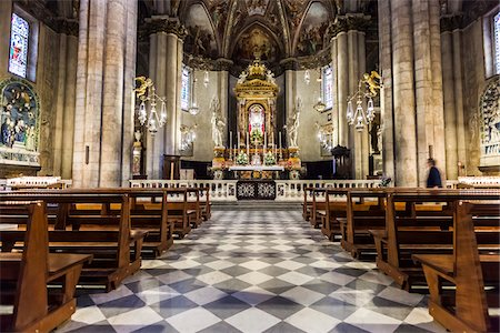 Interior of Arezzo Cathedral, Arezzo, Tuscany, Italy Stock Photo - Rights-Managed, Code: 700-06367979
