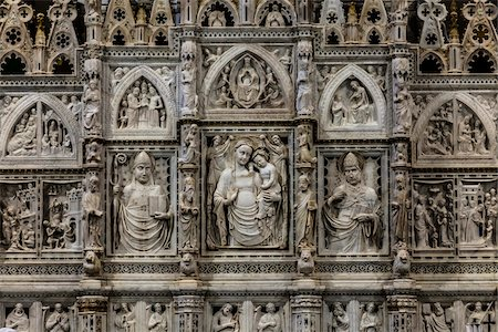 Sculptural Relief, Arezzo Cathedral, Arezzo, Tuscany, Italy Stock Photo - Rights-Managed, Code: 700-06367981