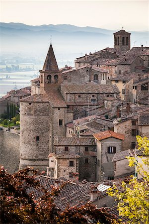 Buildings, Anghiari, Tuscany, Italy Stock Photo - Rights-Managed, Code: 700-06367996