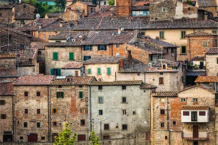 european hillside town - Buildings, Anghiari, Tuscany, Italy Stock Photo - Rights-Managed, Code: 700-06367998
