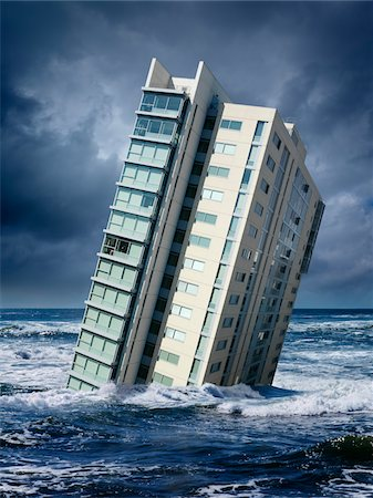 Highrise Floating in Ocean Stock Photo - Rights-Managed, Code: 700-06368075