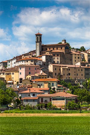 View of Town, Monterchi, Province of Arezzo, Tuscany, Italy Stock Photo - Rights-Managed, Code: 700-06368161
