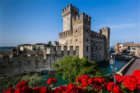 Scaliger Castle, Sirmione, Brescia, Lombardy, Italy Stock Photo - Rights-Managed, Code: 700-06368184