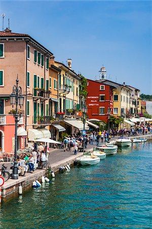 Waterfront, Lazise, Verona Province, Veneto, Italy Stock Photo - Rights-Managed, Code: 700-06368206