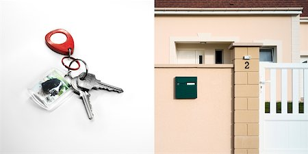 Diptych of Keys and House Stock Photo - Rights-Managed, Code: 700-06368302